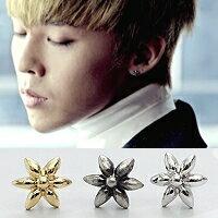 BIGBANG 權志龍 同款精緻綻放花朵花瓣造型耳釘耳環 (單支價)