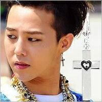 BIGBANG GD 權志龍 同款十字心印吊墜耳環 (單支價)