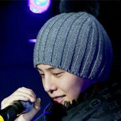 | Star World。Caps | BIGBANG 權志龍 同款灰色手作線織大毛球毛線帽