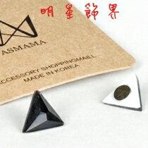 | Star World。Magnet |  Beast  龍俊亨 INFINITE  優鉉 立體三角錐水晶磁鐵耳環 *無耳洞適用 (單支價)