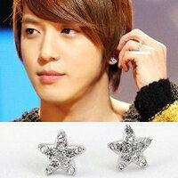 | Star World。Earring |  CNBlue 鄭容和 同款簡約五角銀鑽星耳釘耳環 (單支價)