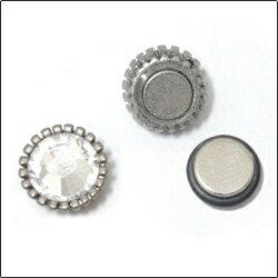 | Star World。Magnet | CNBlue 鄭容和 同款向日葵花邊水晶圓磁鐵耳環 *無耳洞適用 (單支價)