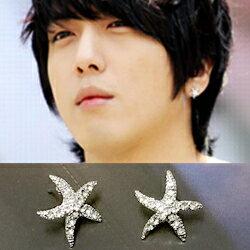【 特價 】CNBlue 鄭容和 韓國??????海星造形鑲鑽耳釘耳環 (單支價)
