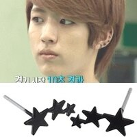 Star World 明星飾界:INFINITE成烈同款滿天星耳釘耳環(一對)