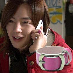 ^  Star World~RING ^  張根碩 同款皮帶式手作皮革戒指