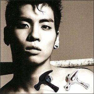 | Star World。Earring | SHINee 鐘鉉 同款榔頭錘子造型耳釘耳環 (單支價)