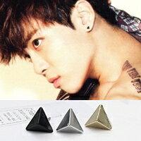 | Star World。Earring |  SHINee 鐘鉉  同款小三角尖錐造型耳釘耳環 (單支價)