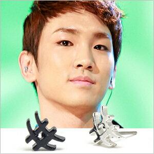 | Star World。Earring |  SHINee KEY 同款不規則井字造型耳釘耳環 (單支價)