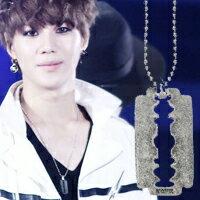 | Star World。Necklace | SHINee 泰民 同款鏤空盾牌復古磨砂銀項鍊