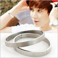 | Star World。Bracelets | Super Junior 利特 同款簡約銀光手環手鐲