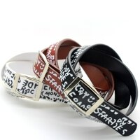 | Star World。Bracelets | Super Junior 銀赫 同款印花字母多層次單色皮帶式皮革手環手鍊