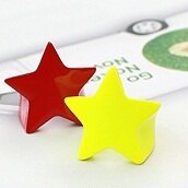 | Star World。RING |  華麗的挑戰 Super Junior 始源 同款螢光黃五角星星戒指