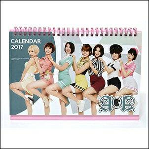 AOA 韓國탁상용 달력 2017 2016 直立式照片桌曆