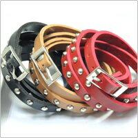 少女時代 潤娥 Yuri Jessica 同款多層次纏繞鉚釘皮帶式厚皮革手環