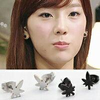 少女時代 太妍 同款簡潔風格楓葉形狀耳釘耳環  一對