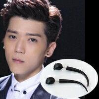 | Star World。Earring | Bii 畢書盡 同款黑面骷髏長彎角耳環 (單支價)