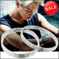 Star World 明星飾界:【特價】EXOKaiLuhan同款羅馬數字鈦鋼銀手環