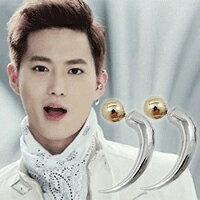【 特價 】 EXO SUHO 同款圓球長彎角耳釘耳環 (單支價)