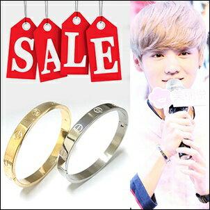 【 特價 】EXO Sehun Luhan Tao 同款螺絲紋精鋼手環