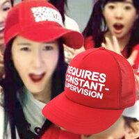| Star World。Caps |  SNSD 少女時代 潤娥 同款簡約風格英文字母純色棒球帽