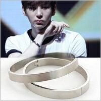 VIXX Leo 同款韓國심플리 簡約銀光手環手鐲