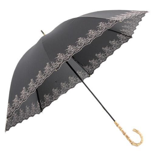 日本代購預購輕量小花刺繡抗UV加工直立傘雨傘長傘單人傘用傘紙箱運送538-25915