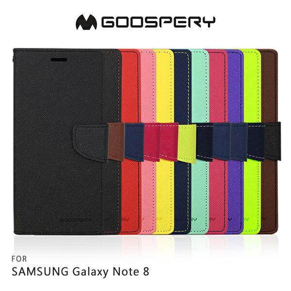 強尼拍賣~GOOSPERYSAMSUNGGalaxyNote8FANCY雙色皮套可站立磁吸插卡側翻皮套保護套手機套
