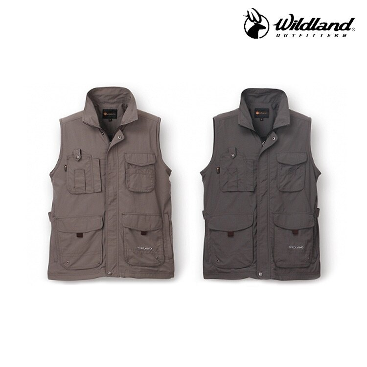 WildLand 中性透氣抗UV多口袋背心W1705 (S~2L) / 城市綠洲 (荒野、旅遊、釣魚、休閒)
