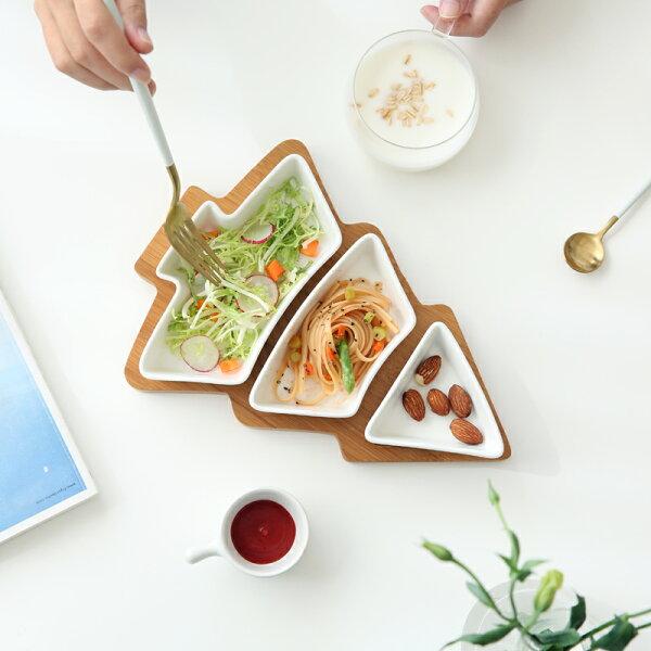 Alice餐廚好物:|現貨供應|甜蜜聖誕節聖誕樹小碟托盤4件組|零食碟|水果盤|人氣款*交換禮物推薦