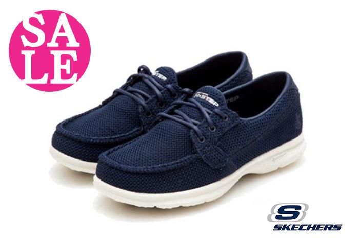 SKECHERS 女休閒鞋 經典鞋款 GO STEP超輕量健走鞋 零碼出清 O8276#藍色◆OSOME奧森鞋業