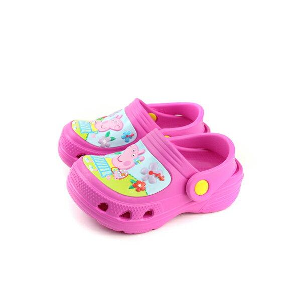 粉紅豬小妹PeppaPig布希鞋防水雨天童鞋桃紅色中童PG0048no729