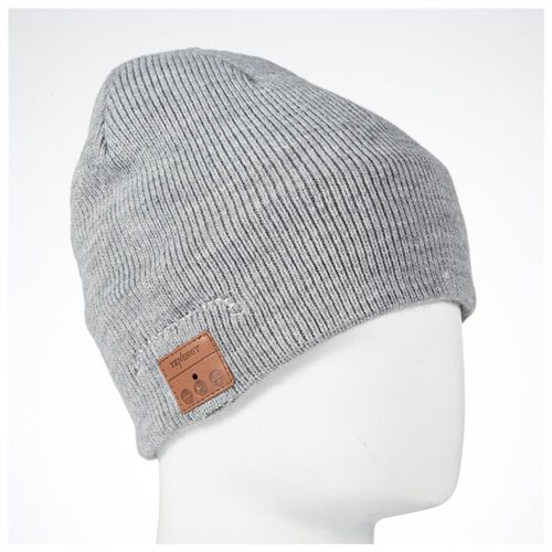 791867865ca3c Tenergy Basic Knit Wireless Hands-Free Bluetooth Beanie with Built-in  Speakers - Grey