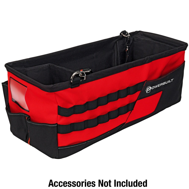 Powerbuilt 21-Inch Car Trunk Tool Storage Carrier Organizer Bag - 642412 0
