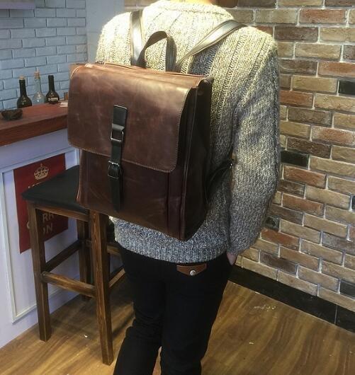 FINDSENSE Z1 韓國 時尚 潮 男 皮質 休閒 學生包 旅行包 電腦包  書包 後背包 雙肩包