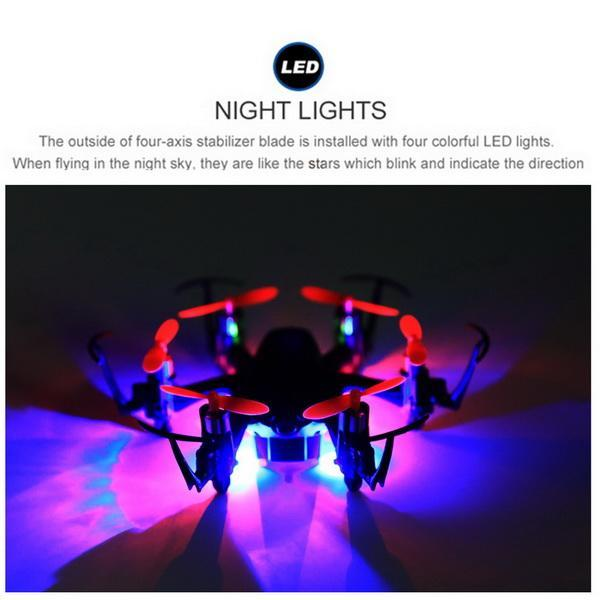 H20C 2.4G 4 Channels 6-Axis Gyro Lights Eversion RC Hexacopter 2.0MP Camera 3