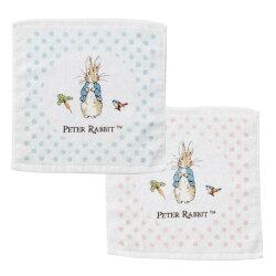 奇哥 比得兔 圓點比得兔印花方巾(藍/粉)