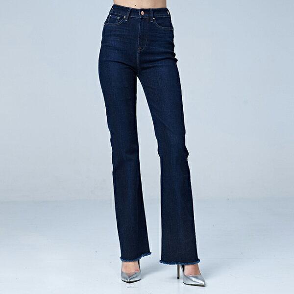 Lee高腰喇叭褲BO-深藍色