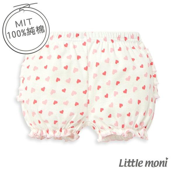 Littlemoni家居系列花苞泡泡短褲-熱情粉