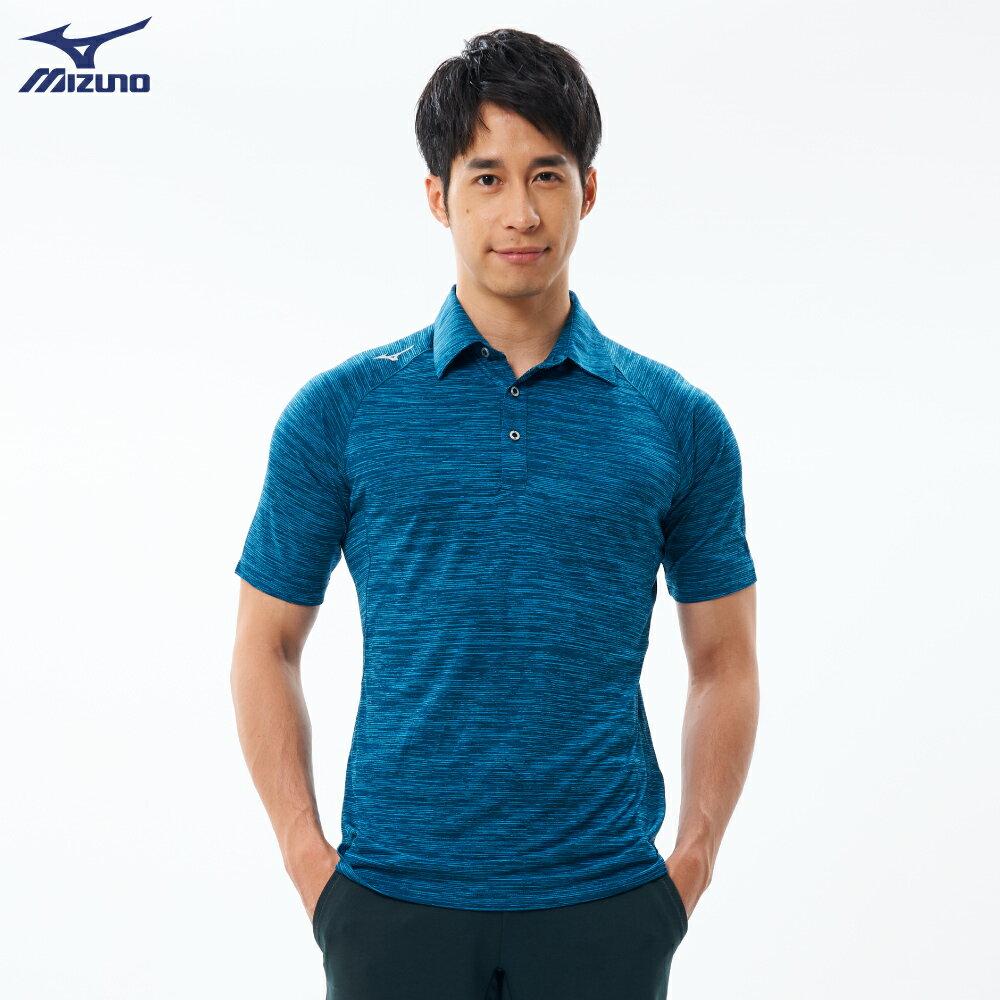 Slim FIT男款短袖POLO衫 32TA001532(湖藍)【美津濃MIZUNO】
