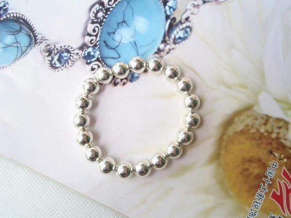 飾品 熱銷 簡約自然銀色閃亮圓珠手鏈手鐲