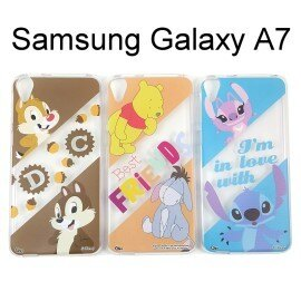 迪士尼透明軟殼 Samsung A700Y Galaxy A7 [最佳拍檔] 小熊維尼 史迪奇【Disney正版授權】