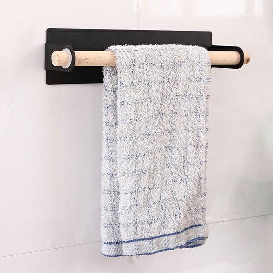 ●MY COLOR●無痕黏貼門背式毛巾架 創意 單桿 毛巾掛架 浴室 免打孔 置物架 櫥櫃 抹布 收納架【P474】