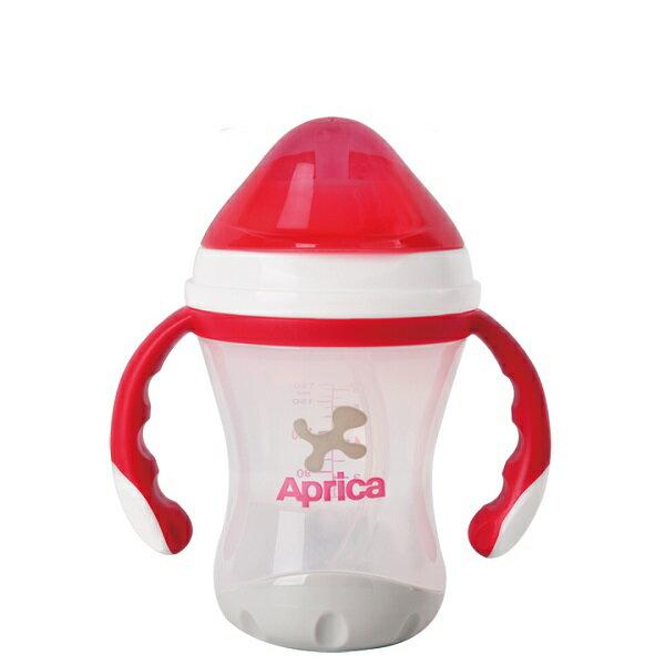 Aprica愛普力卡 - 軟管掀蓋喝水練習杯 STEP 3 0