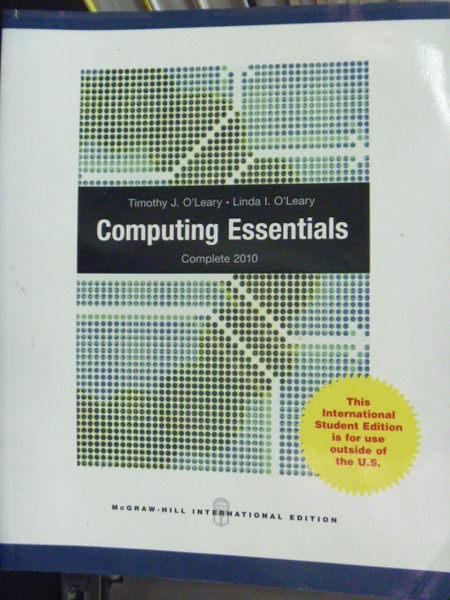 【書寶二手書T5/大學資訊_PFD】Computing Essentials_Timothy