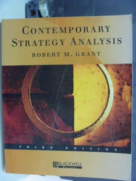 【書寶二手書T4/財經企管_PFG】Contemporary Strategy Analysis 3/e_Robert