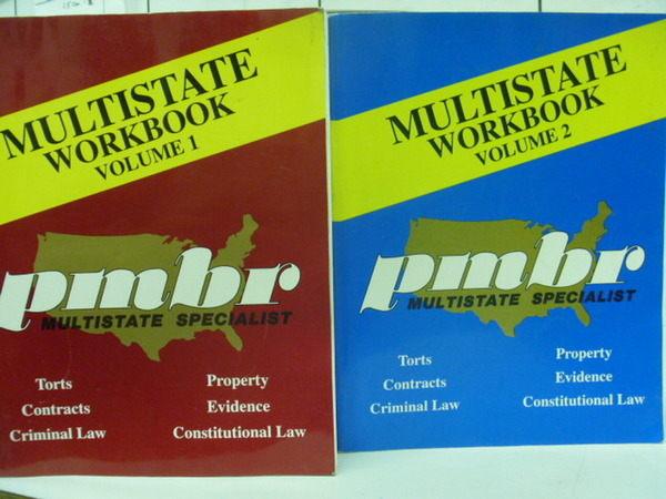 【書寶二手書T8/語言學習_YCG】MULTISTATE WORK BOOK_2本合售_2002年