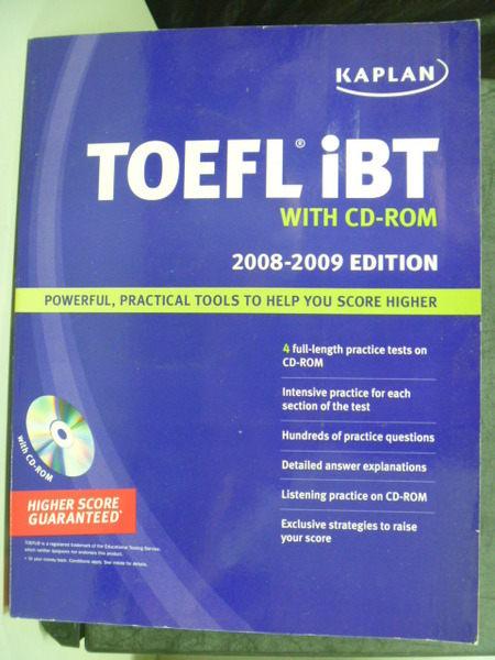 【書寶二手書T6╱語言學習_PIS】TOEFL IBT 2008-2009/e_附3片光碟