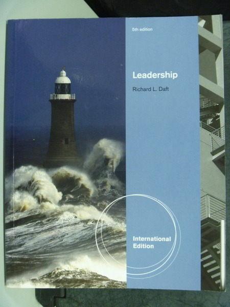 【書寶二手書T1╱大學商學_XBS】Daft Leadership 5/e_Richard L. Daft