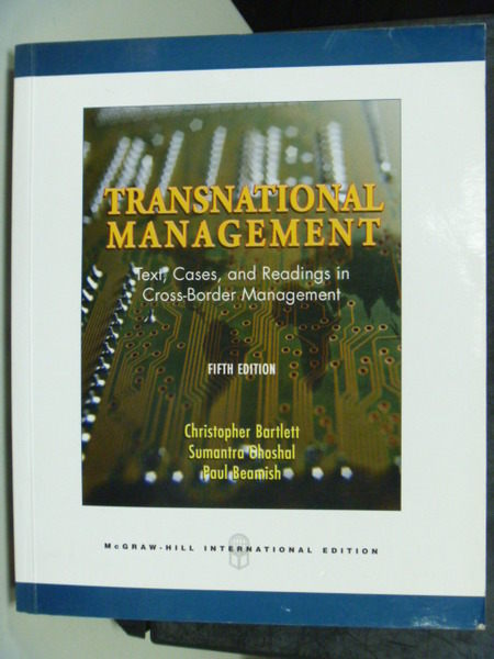 【書寶二手書T4/大學商學_QDJ】Transnational Management 5/e_Bartlett、Ghos