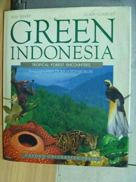 【書寶二手書T2/動植物_ZAE】Green Indonesia_Ilsa Sharp_1994年